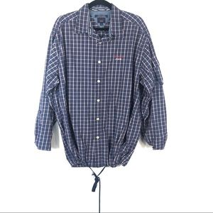 TOMMY JEANS button up flannel cinched waist R3